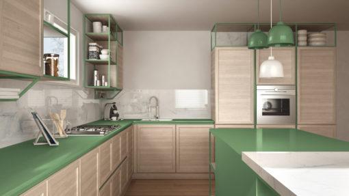 חיפוי זכוכית למטבח אפור דגם 502