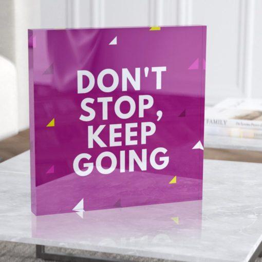 פוטובלוק Don't Stop, Keep GOING