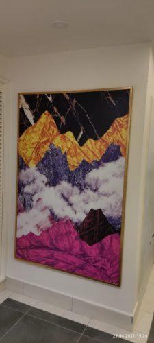 הרי הצבעים בקמבודיה תמונה בסגנון מודרני אבסטרקטי לסלון למשרד לחדר שינה דגם 74921 photo review
