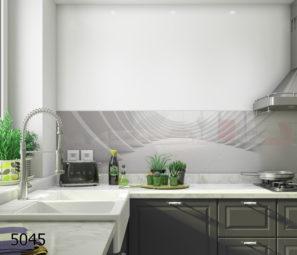 דוגמא לחיפוי קיר זכוכית למטבח דגם 5045