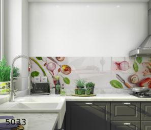 חיפוי זכוכית למטבח מזכוכית מחוסמת דגם 5033