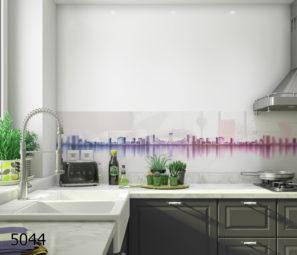 חיפוי קיר בזכוכית עיר האורות דגם 5044