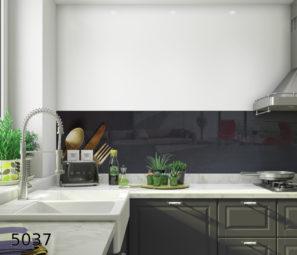 חיפוי קיר מטבח בזכוכית בעל רקע כהה דגם 5037