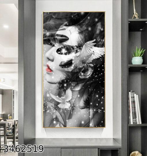 מלכת הלבבות - תמונת קיר לכניסה לבית דגם 3462519