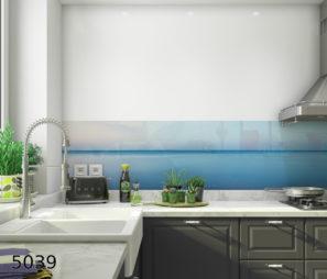 שלוות הים הגדולה חיפוי זכוכית למטבח דגם 5039