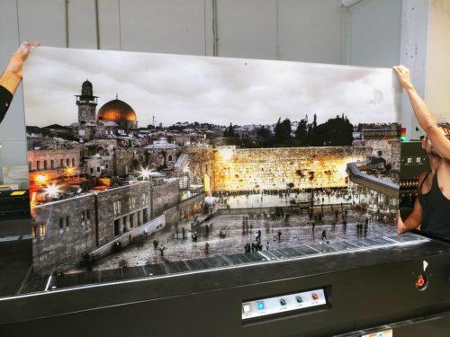 תמונת הכותל, ירושלים בלילה - מתאים לתלייה בסלון או במשרד הדפסה ישירה על זכוכית דגם F15W photo review