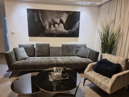 אהבה בשחקים תמונת זכוכית זוגית מושלם לתלייה בסלון דגם 101CW photo review