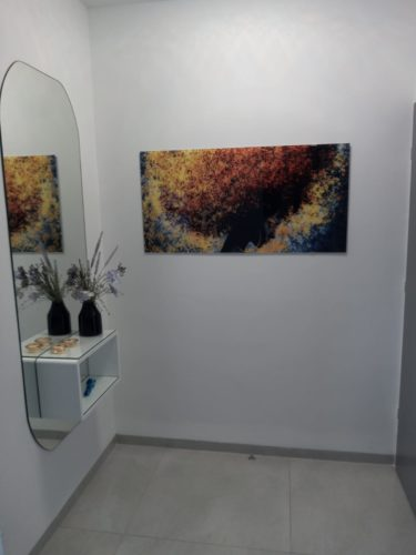 ראש אחר תמונת זכוכית אפריקאית לסלון ולחללי הבית דגם 932W photo review