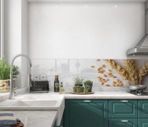 החיטה צומחת שוב חיפוי זכוכית למטבח דגם 5055