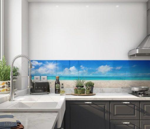 ים התיכון חיפוי זכוכית אווירה למטבח דגם 5053