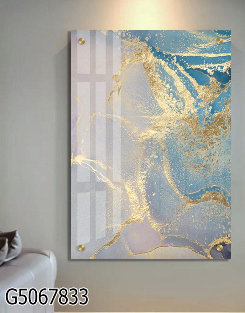 אבסטרקט יוקרתי - תמונת זכוכית מעוצבת לסלון או למשרד דגם G5067833