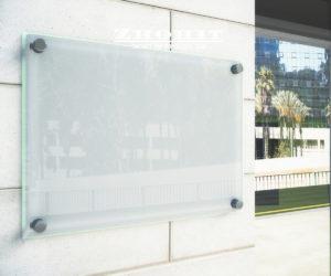 שלט זכוכית לעסק דוגמה 2