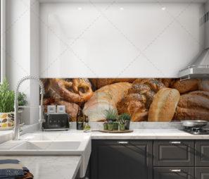 לחם הבית - חיפוי זכוכית למטבח או למאפיה דגם 5109