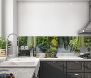קסם הירוק בטבע חיפוי זכוכית למטבח דגם 5051