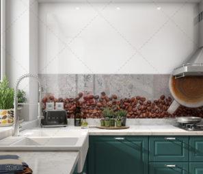 קפה במטבח - חיפוי זכוכית מודרני למטבח או לבריסטה דגם 5104