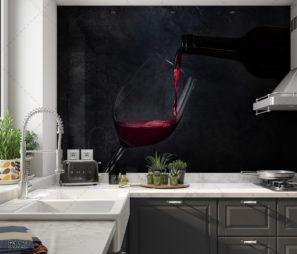 רגע של יין - חיפוי זכוכית למטבח דגם 5512