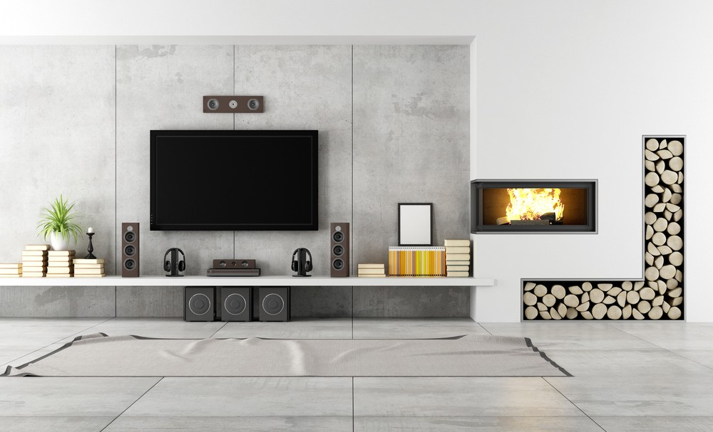 Decorated-interior-TV-wall