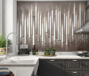GLAMOUR- חיפוי זכוכית למטבח קווי מודרני דגם 5095