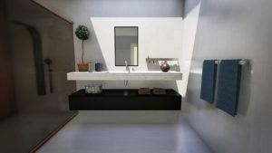 Glass wall for the bathroom