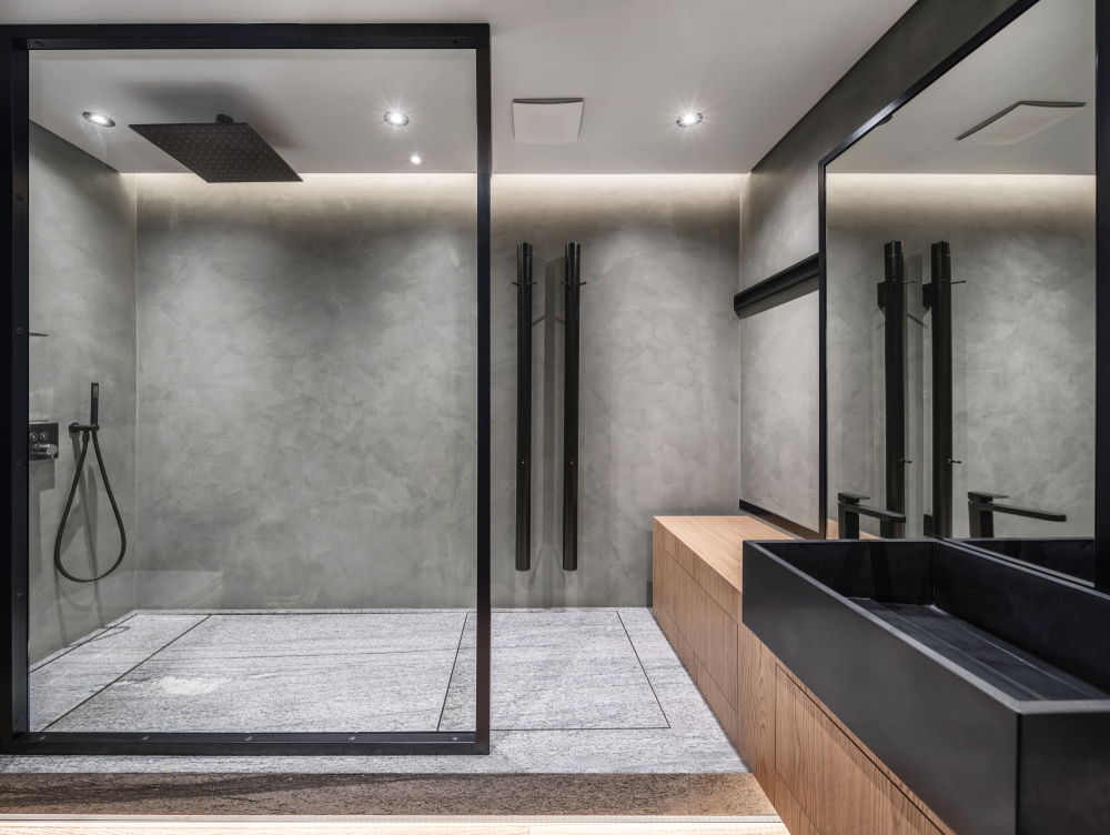 Installation of safety glass showers