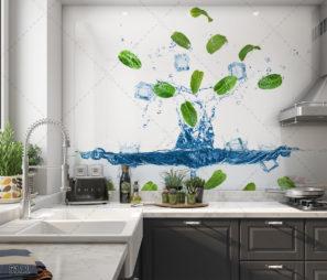 SPLASH - חיפוי זכוכית מודרני למטבח דגם 5111