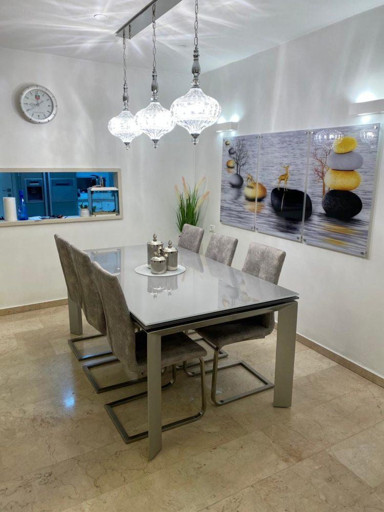 חלוקי נחל ואיילים סט 3 תמונות מעוצבות על זכוכית לסלון או פינת אוכל דגם G34319 photo review