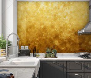 זהב נוצץ חיפוי זכוכית למטבח יוקרתי ועשיר דגם 5150