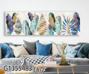 עלים נורדיים - תמונת זכוכית לתלייה בסלון או בקליניקה דגם G1355483