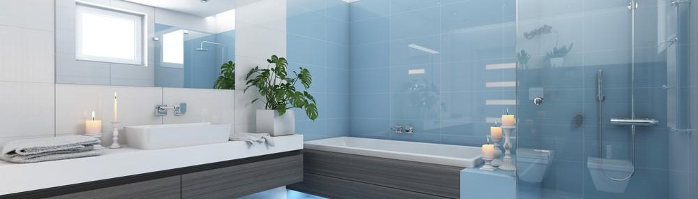 Glass cladding for bathroom
