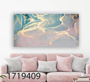 אבסטרקט מנצנץ - תמונת זכוכית מודרנית לסלון או לחדר שינה דגם 1719409