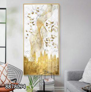 אבסטרקט פרפרים - תמונה קלאסית על זכוכית למשרדים או לבית מלון דגם 8878094