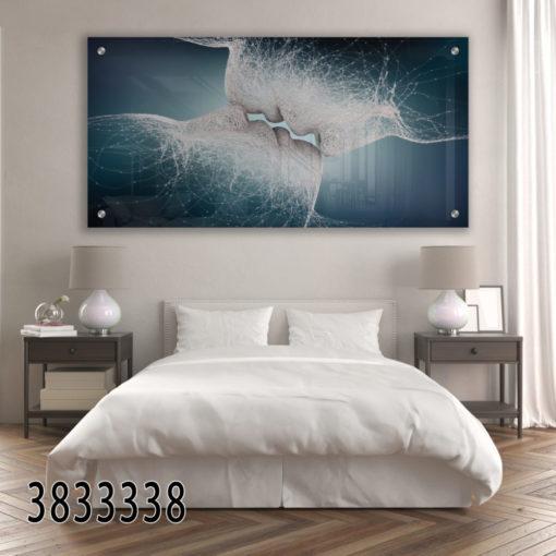אהבת נפש - תמונת זכוכית מהממת של זוגיות לחדר שינה או לסלון דגם 3833338