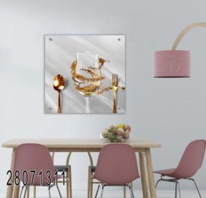אווירה במטבח - תמונה על זכוכית לפינת אוכל או מטבח דגם 28071311