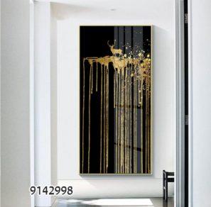 איל על צוק דמיוני - תמונת זכוכית מודרנית למשרדים מעוצבים או לכניסה לבית דגם 9142998