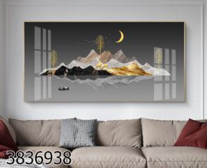 אי סוריאליסטי - תמונת זכוכית לסלון או לבית מלון דגם 3836938