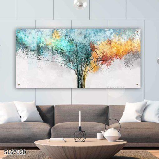 זה עץ החיים - תמונת ציור של עץ החיים מעוצבת על זכוכית לתלייה בסלון או בפינת אוכל דגם 5167120