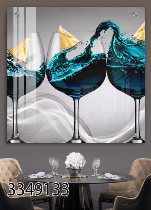 יוקרה במבטח - תמונת זכוכית מודרנית למטבח או לפינת אוכל דגם 3349133