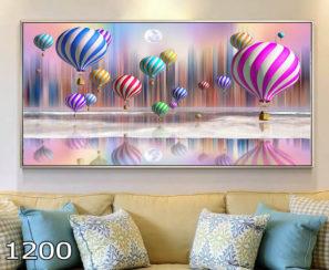 כדורים פורחים צבעוניים - תמונה על זכוכית לחדר ילדים דגם 1200