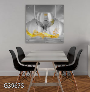 כוסות סוריאליסטיות - תמונת זכוכית למטבח או לפינת אוכל דגם G39675