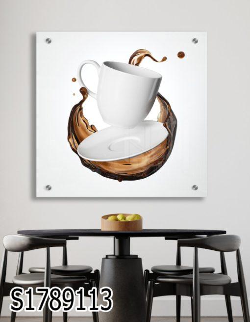 רגע של קפה - תמונה על זכוכית למטבח פינת אוכל מתאים לבית קפה דגם S1789113
