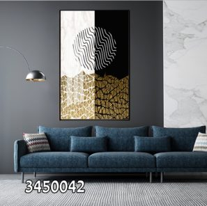 תמונה גיאומטרית בצבעים מודרניים למשרדים מעוצבים או לבית מלון דגם 3450042