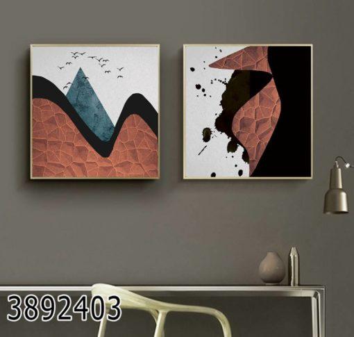 אבסטרקט דקורטיבי - סט תמונות מגניבות על זכוכית לסלון או למשרדים מעוצבים דגם 3892403