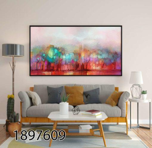 אומנות מופשטת עצים - תמונה מזכוכית אבסטרקטית לסלון או לפינת אוכל דגם 1897609