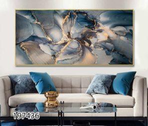 סודות הפרח - תמונת זכוכית אבסטרקטית לסלון או לפינת אוכל דגם 197436