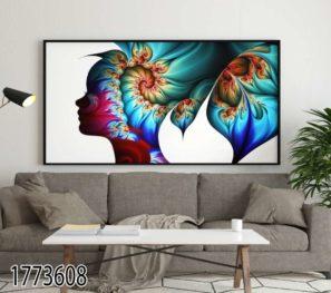 פרח המחשבה - תמונת השראה על זכוכית לסלון או לפינת אוכל דגם 1773608