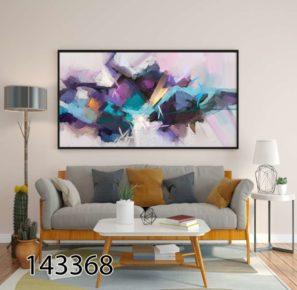 ציור אבסטרקט יוקרתי - תמונת זכוכית לסלון או לקליניקה דגם 143368