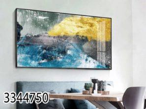 תמונה אבסטרקטית על זכוכית לסלון או לפינת אוכל דגם 3344750