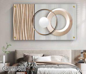תמונה בצבעים רכים בהדפסה על זכוכית לסלון או לפינת אוכל יוקרתיים דגם G5075462