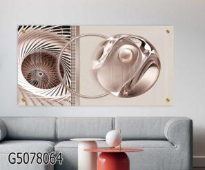 תמונה דקורטיבית על זכוכית סגנון תלת ממד לסלון או לפינת אוכל דגם G5078064