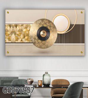 תמונה יוקרתית לסלון ללובי או לפינת אוכל הדפסה על זכוכית דגם G5076957